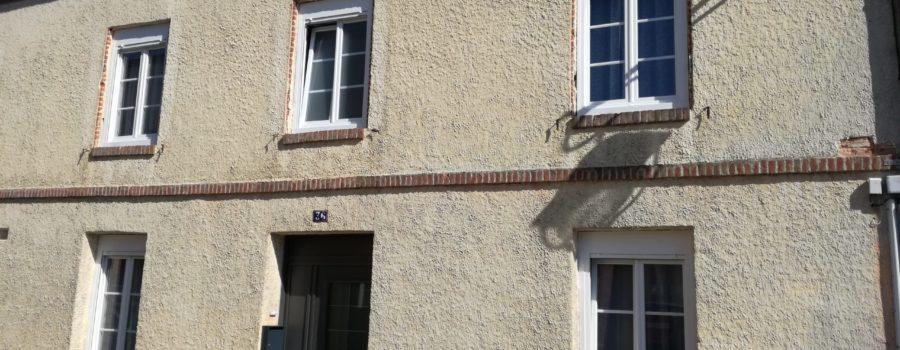 Rénovation BBC maison en briques Orbec Normandie