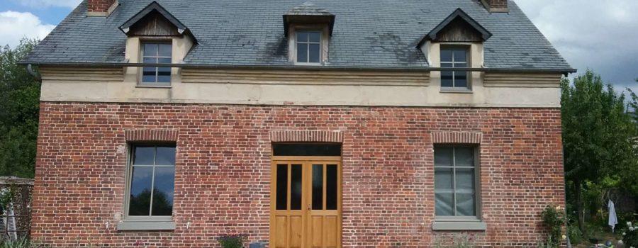 Rénovation BBC Normandie Orbec maison en briques