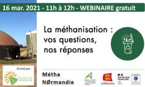 Webinaire méthanisation Normandie